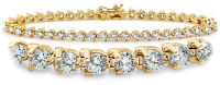 Yellow Gold Prong-Set Tennis Bracelet