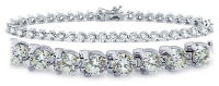 3-Prong Set Tennis Bracelet