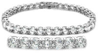 4-Prong Basket  Tennis Bracelet