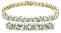 Yellow gold Basket Tennis Bracelet