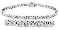Full-Bezel Set Tennis Bracelet