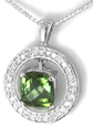 Cushion shape Green Tourmaline Pendant