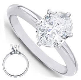 Oval Diamond Engagement